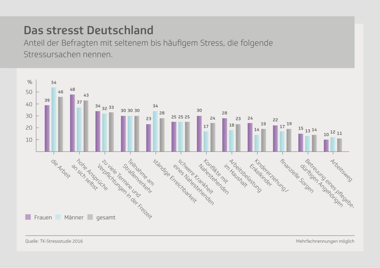 Stress-Studie Deutschland 2016