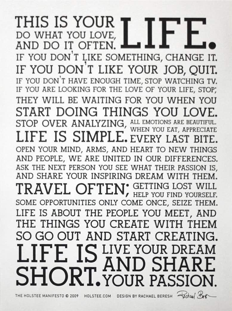 Manifesto - gestalte Dein Leben