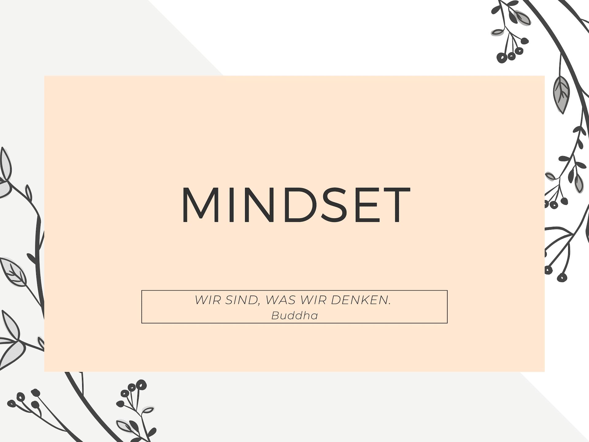 Lerne Dein Mindset zu ändern.